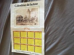 CALENDRIER DU FACTEUR 1984 - Calendriers