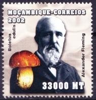 Mf3- Fleming, Nobel Medicine, Bacteriology, Immunology, Mozambique 2002 MNH - Nobel Prize Laureates