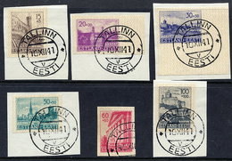 ESTONIA  1941 Reconstruction Imperforate Set (first Printing), Used. .  Michel 4-9U - Occupation 1938-45