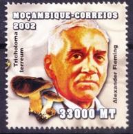 Mf4- Fleming, Nobel Medicine, Bacteriology, Immunology, Mozambique 2002 MNH - - Nobel Prize Laureates