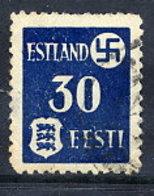 ESTONIA  1941 30 K. On Ordinary Paper, Used .  Michel 3y - Occupation 1938-45