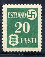 ESTONIA  1941 20 K. On Ordinary Paper, LHM / * .  Michel 2y - Occupation 1938-45