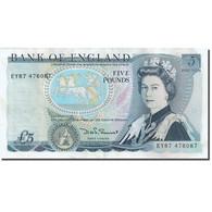 Billet, Grande-Bretagne, 5 Pounds, 1971-1982, 1980-1987, KM:378c, TTB - 1952-… : Elizabeth II