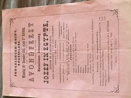 ROUSSELARE 1881 OPÉRA JOSEF IN ÉGYPTE - Programmes