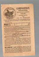 Cersay (79 Deux Sèvres) Plaquette PASQUIER Alimentation Pour Volailles  (PPP14230) - Advertising