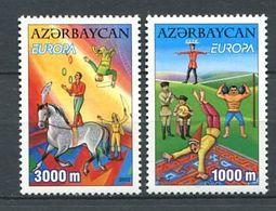 231 AZERBAIDJAN 2002 - Yvert 431/32 - Europa Cirque Cheval Jonglage - Neuf **(MNH) Sans Trace De Charniere - Azerbaïdjan