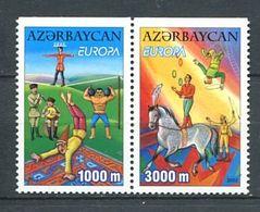 231 AZERBAIDJAN 2002 - Yvert 431a/32a - Europa Cirque Cheval Jonglage - Neuf **(MNH) Sans Trace De Charniere - Azerbaïdjan