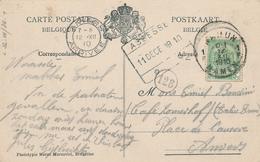 ZZ694 - TB Carte-Vue ASSESSE Rue De La Station TP Armoiries NAMUR 1910 - Griffe D' Origine GARE D' ASSESSE - Poststempel