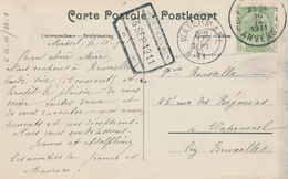ZZ695 - TB Carte-Vue MORTSEL Oude God TP Armoiries ANVERS 1911 - Griffe D' Origine GARE De MORTSEL - Poststempel