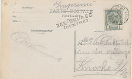 ZZ696 - Carte-Vue ZEEBRUGGE Le Phare TP Armoiries BRUGES Station - Griffe D' Origine ZEE-BRUGGE (Centre) - Poststempel