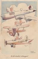 AK - Kunstkarte - Flieger - Verlag Horn Gotha - Humor