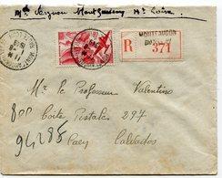 HAUTE LOIRE De MONTFAUCON DU VELAY   Env. Recom. De 1949  Avec Dateur A 6 - Postmark Collection (Covers)