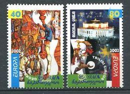 231 GEORGIE 2002 - Yvert 299/300 - Europa Cirque - Neuf **(MNH) Sans Trace De Charniere - Géorgie