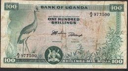 UGANDA ** R A R E  ** P4 100 SHILLINGS 1966 FINE  NO P.h. ! - Uganda
