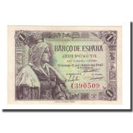 Billet, Espagne, 1 Peseta, 1945-06-15, KM:128a, NEUF - 1-2 Pesetas