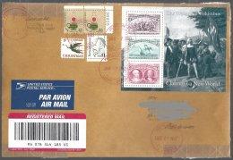 USA Yv 1231 Paire Light +793 Christmas+ 1687 B.Revel+ BF 24 Colombus S/lt Recommandé Vers Belgique 2003 - Lettres & Documents