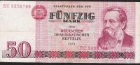 GERMAN DEMOCRATIC REPUBLIC  P30b  50  MARK  1971  VF - [ 6] 1949-1990 : RDA - Rep. Dem. Tedesca