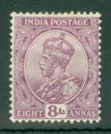 India: 1911/22   KGV      SG180    8a    Deep Mauve      MH - India (...-1947)
