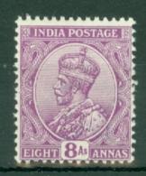 India: 1911/22   KGV      SG181     8a   Bright Mauve   MH - India (...-1947)