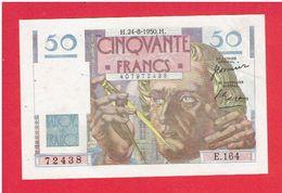 50 FRANCS LE VERRIER ETAT NEUF CINQUANTE FRANCS BANQUE DE FRANCE - 1871-1952 Circulated During XXth