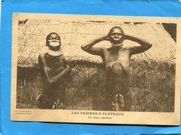 GUINEE-FSE-Les Femmes à Plateau--grosplan Animé-années 20-édition-vulgarisation Ethnographique - Guinée Française