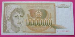 YUGOSLAVIA 1000000 DINARA 1989, RARE - Yugoslavia