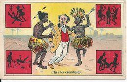 """Chromos Chicorée Extra Leroux Orchies Dessin Humoristique """"Chez Les Cannibales"""" - Tea & Coffee Manufacturers"""