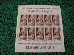 Feuille Neuf Poste Aérienne - République Gabonaise - Europe-Afrique 1970 - 50Fr CFA - Gabon