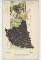 FEMMES - FRAU - LADY - ARTISTES 1900 - Jolie Carte Fantaisie De LINA CAVALIERI , Carte PUB Pour CHAUSSURES RAOUL - Femmes