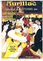 15 AURILLAC  33ème SALON  DES COLLECTIONNEURS CPM  TBE   H75 - Aurillac