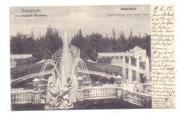 RU 198504 PETERHOF, Schloßanlage Fontäne Und Großer Kanal, 1907 - Russland