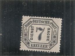 ALLEMAGNE - Confédération Du Nord - Service N° 9 Sans Gomme (ou Presque)  Côte 60€ - Norddeutscher Postbezirk