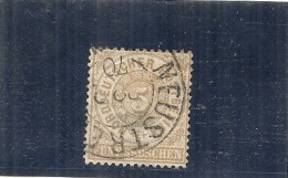 ALLEMAGNE -  Confédération Du Nord --- N° 17 Côte 11€  5ct Bistre - Norddeutscher Postbezirk