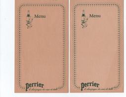 Lot 2 Menus  PERRIER - Perrier
