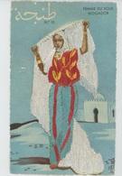 FEMMES - FRAU - LADY - AFRIQUE DU NORD - Jolie Carte Fantaisie Brodée FEMME DU SOUS MOGADOR - N°10 - GUMIER - Borduurwerk
