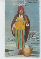 FEMMES - FRAU - LADY - AFRIQUE DU NORD - Jolie Carte Fantaisie Brodée FEMME DU SOUS TAROUDANT - N°2 - GUMIER - Borduurwerk