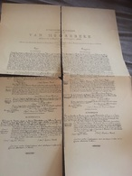 ATTESTATION DE NOBLESSE FAMILLE VAN HOOREBEKE 1855 A Voir - Manuscrits