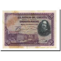 Billet, Espagne, 50 Pesetas, 1928-08-15, KM:75a, TB+ - [ 1] …-1931 : Eerste Biljeten (Banco De España)