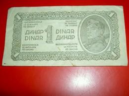 Yougoslavie  1 Dinar  1944 - Yugoslavia
