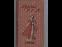 AGD1  AGENDA PLM  1912  .ITALIE  SUISSE  SPORTS  D ' HIVER...CAPPIELLO WILLETTE LEANDRE  + 167 Dessins - Calendars