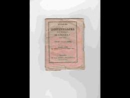 AGD1       209  ANNALES  CALENDRIER 1850 DE MONTPELLIER  Chez DUMAS Cristin Rue Du Palais  12 X 15,5 Rare Régionalisme L - Calendars