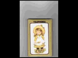 AGD1   220  SARAH  KAY  LUXUEUX CARNET  TELEPHONES  TRANCHE .DOREE .FILLETTE ..FRAISES   CUEILLETTE  10 X 7  Année 70 - Calendars