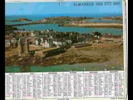 CAL782  CALENDRIER  ANNEE 1980 ..ILLE ET VILAINE  SAINT SERVAN  Et CHENONCEAUX .2 Volets Voir Photos Feuillet. HERAULT - Big : 1981-90