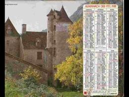 CAL794  CALENDRIER  ANNEE 1981   LOT    AUTOIRE .. .2 Volets Voir Photos Feuillet.AISNE - Big : 1981-90