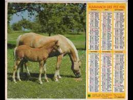 CAL796  CALENDRIER  ANNEE 1981  .poulain Jument  Colley. .2 Volets Voir Photos Feuillet.AISNE - Big : 1981-90