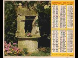 CAL798  CALENDRIER  ANNEE 1981 .CALVADOS  POMMERAYE  + PUITS BRETON.2 Volets Voir Photos Feuillet.AISNE - Big : 1981-90