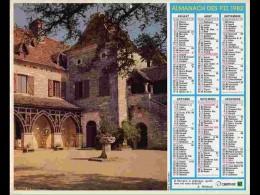 CAL806  CALENDRIER  ANNEE 1982 .LOT  CHATEAU LOUBRESSAC .+ VACHES.  2 Volets Voir Photos Feuillet...AISNE - Big : 1981-90