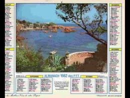 CAL812  CALENDRIER  ANNEE 1982  VAR ESTEREL + MONT BLANC.  2 Volets Voir Photos Feuillet..DEUX SEVRES - Big : 1981-90