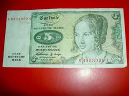 Allemagne  5 Deutsche Mark   2-01-1960 - [ 7] 1949-… : RFA - Rep. Fed. De Alemania