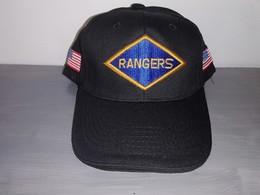 Casquette Noire RANGERS 2nd Battalion Pointe Du Hoc Omaha Utah D DAY JEEP Cap - Copricapi